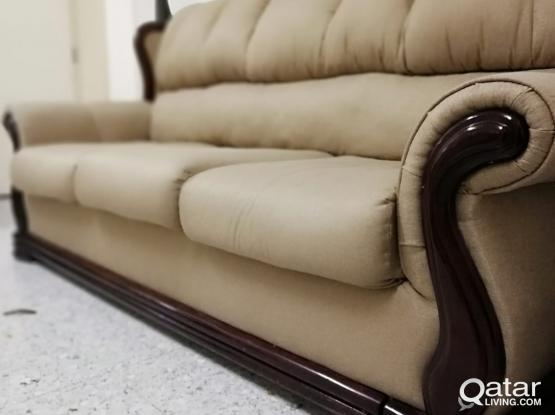 RUSH SALE !!! COMPLETE SOFA SET FOR QR 1800 ONLY