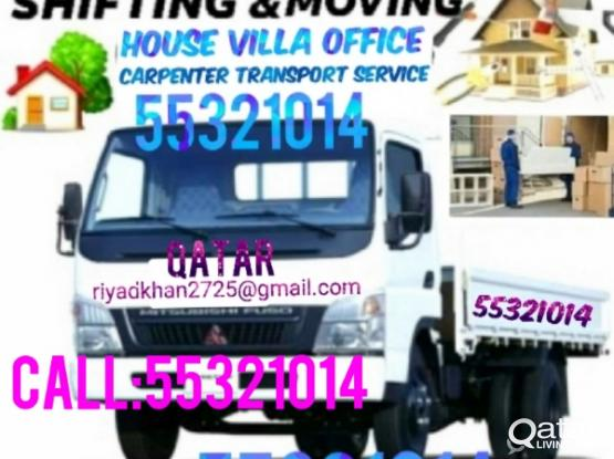 Low price call me 55321014 we do house Villa office Shifying and moving furniture, we have expert carpenter for dismantling and fixing furniture, our service all over Qatar