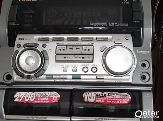Aiwa video CD and 5 speaker
