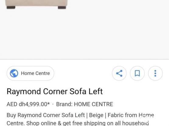 Home Centre Raymond Big Corner Sofa