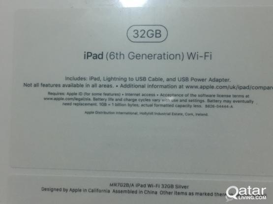 iPad 6th generation, new, sealed..