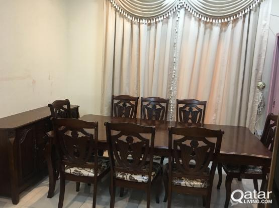 Dining table with 8 chair and Buffee For sell