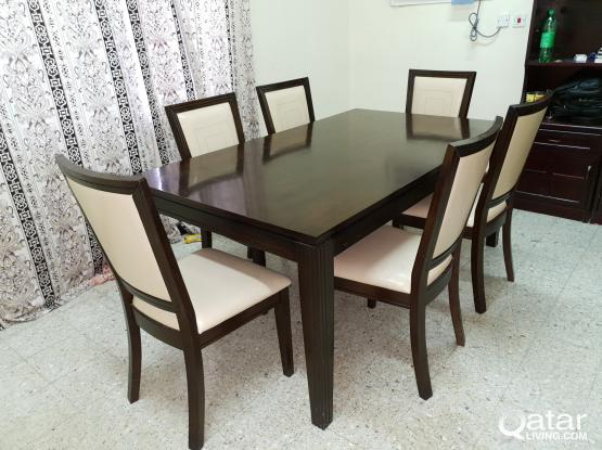 RUSH SALE !!! COMPLETE WOODEN DINNING SET FOR QR 1500 ONLY