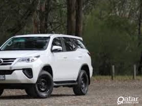 4*4 TOYOTA FORTUNER 150 QR PER DAYS FOR MORE INFRO:4415 4467