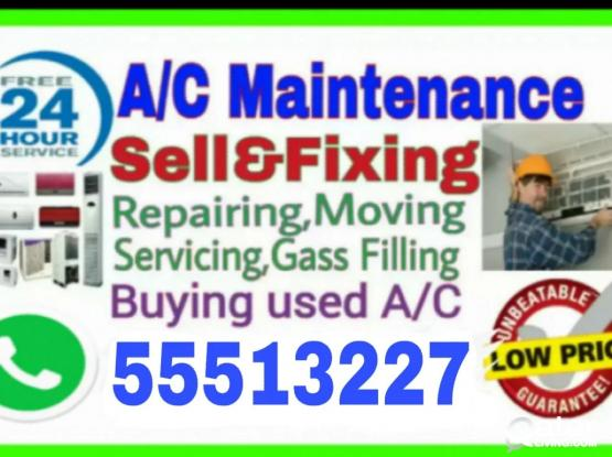 ★A/C Selling and Fixing, Servicing, Repairing, Gas Filling, Cleaning & Removing.    ★ We Buy Used and Damage A/C.   ★We Are Doing Work Whole Qatar. (Service 24 Hours).   ★We Have Up To 5 Years Experience in A/C Section.(call :-55513227)