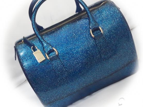 FUrla Glitter jelly Satchel Bag