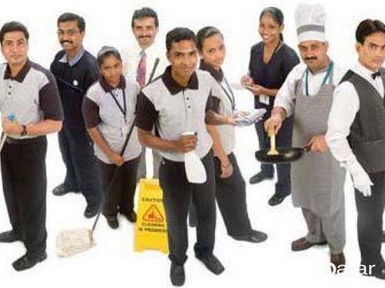 Cleaners and waiters supply for hotels and office