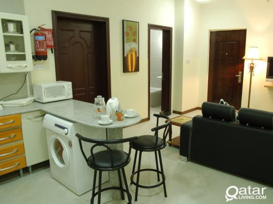 **1BHK # Fully Furnished/ ALL Bills included**UMM Moghlina (SHORT/LONG TERM) No Commission