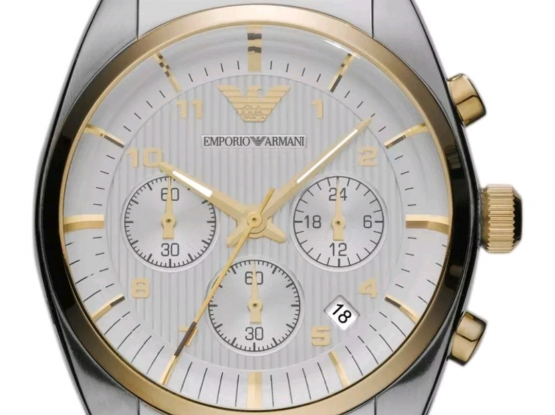 Emporio Classic Watch Two tone Silver Gold