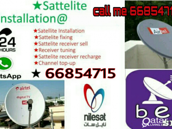Any satellite dish TV work, Airtel,dish receiver sell, all,dish receiver sell, your need just call me 66854715
