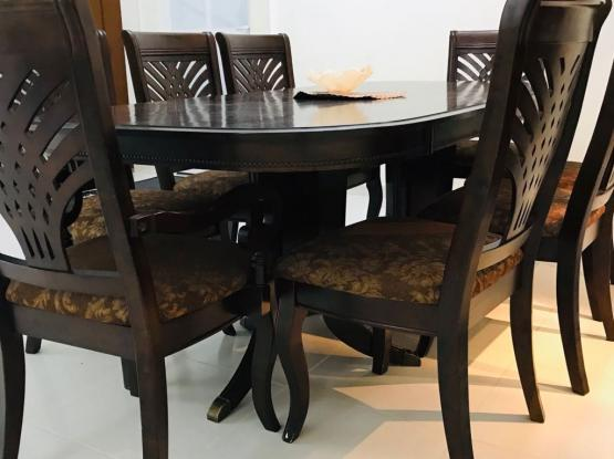 Dining table with 8 chair solid wood