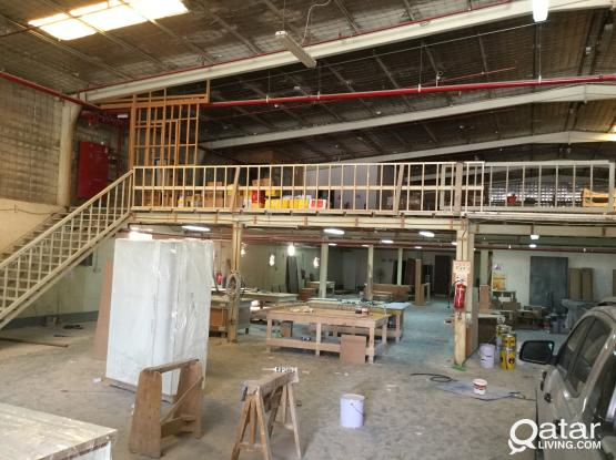 CARPENTRY WORK SHOP FOR RENT IN INDUSTRIAL AREA 1740 SQMTR WITH 4 ROOM