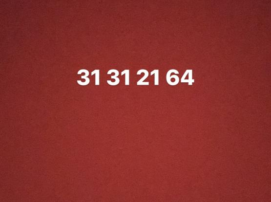 Special number 31312164