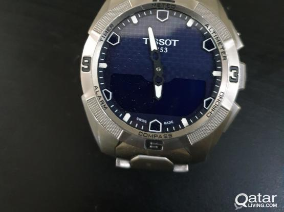 Authentic Tissot T-touch wrist watch