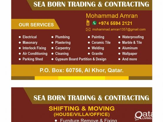 55942121 Electrical, Plumbing, Painting, masonry, carpentry, gypsum, welding and more Al Khor to anywhere
