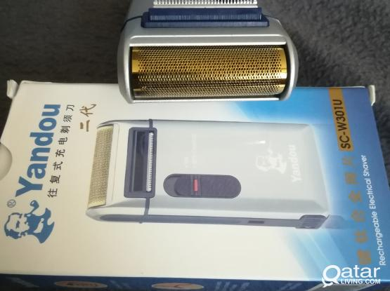 Man's rechargeable shaver.