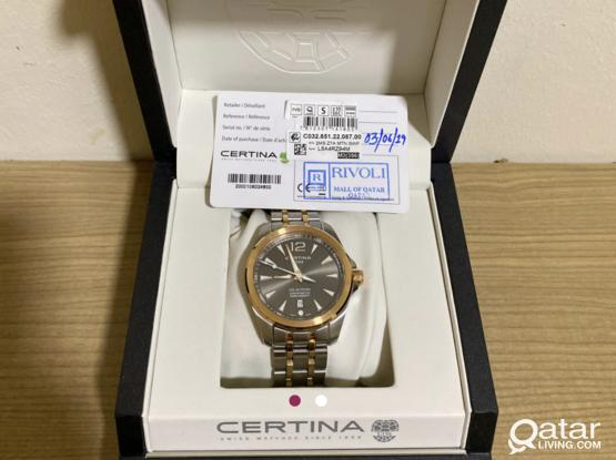 Gold Colour Certina original Swiss Made