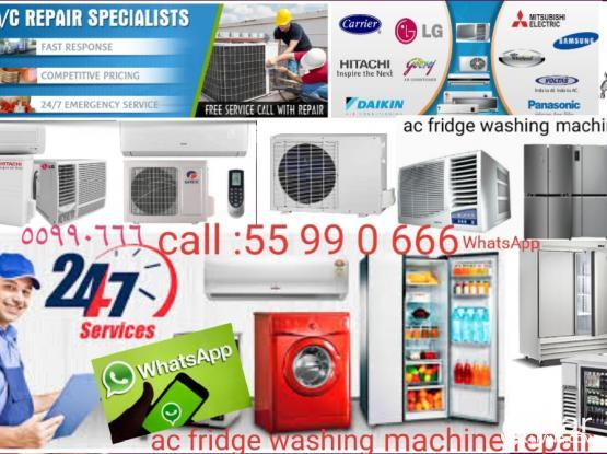 ac fridge washing machine repair service call: 55990666