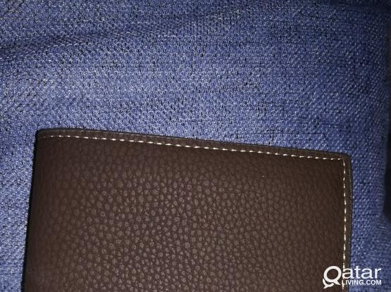 2 tone leather wallet, man, brand new