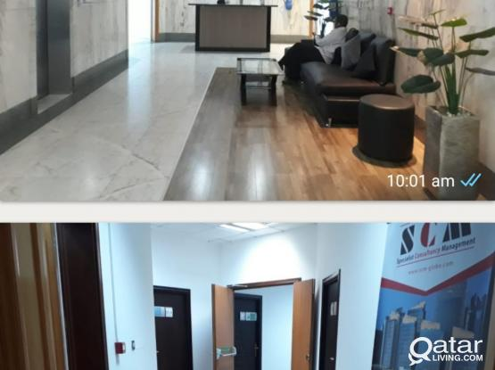 Offices for rent in a fully equipped business center.