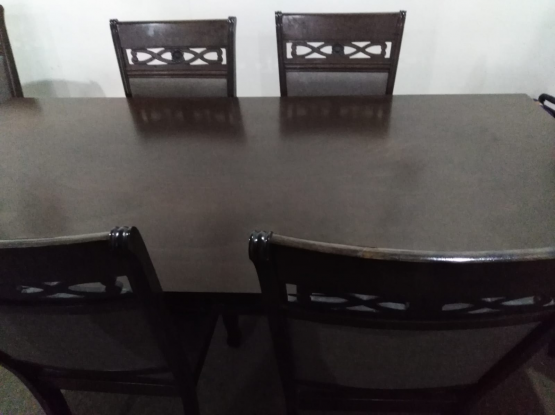 Dining table along with 8 chairs