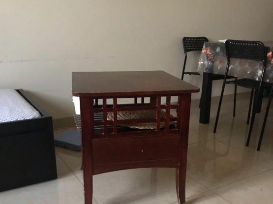 Used bed with Cot and side stand for sale.