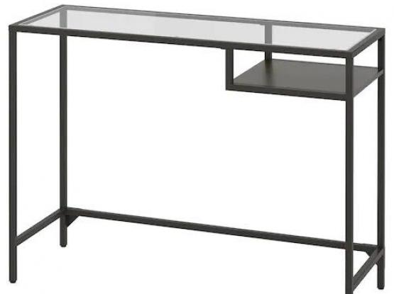 computer table with glass top