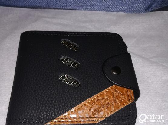Wallet, brand new, black and brown leather, Man's