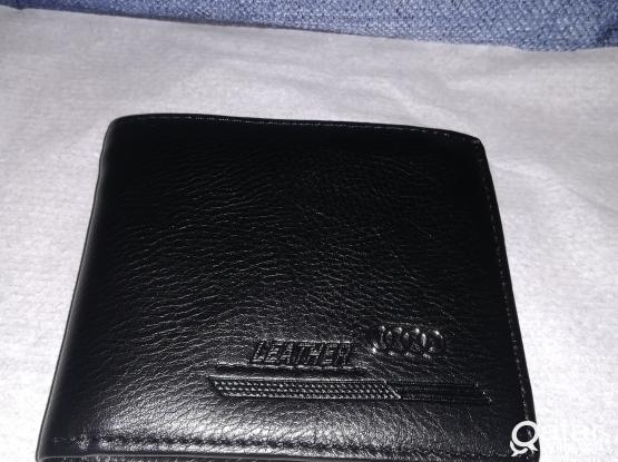 Black wallet, leather, Man's, brand new
