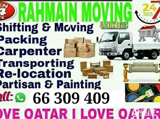 Shifting Moving Service-Low price please call-66309409