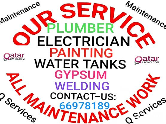 Electrician Electric Plumbing plumber All services 24/7 Services, Please Call:66978189