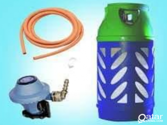 Gas cylinder + regulator and pipe QR 335/- 66212847