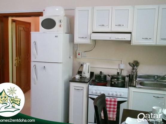 1BHK FULLY FURNISHED APARTMENT IN GHARAFA ! ALL INCLUSIVE (LAND MARK)