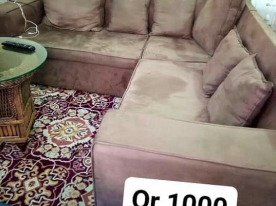L Shape Sofa (Smooth Velvet Fabric)