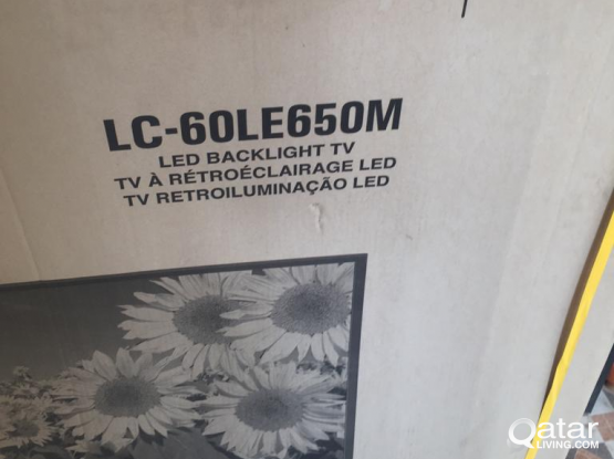 """not working 60"""" sharp tv for spare parts"""
