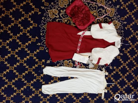 National Day Special Girls  dress 3-5 years (4pcs set)
