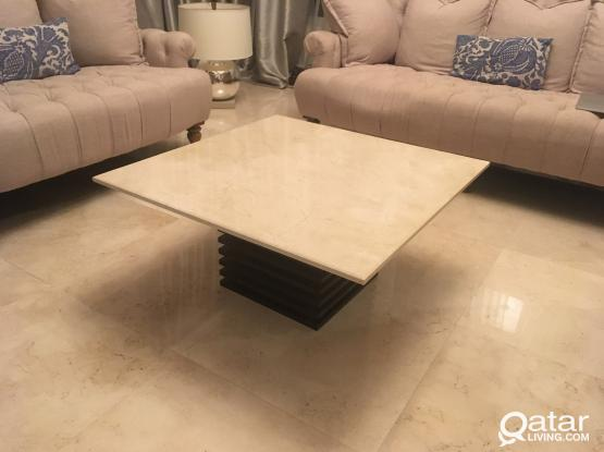Black Marble Top Coffee Table (Not White like in the photo shown)