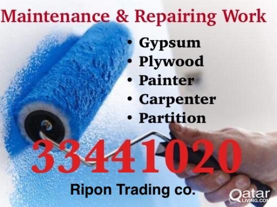 Gypsum- Painter-Partition- Repairing work - 33441020
