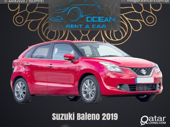 SUZUKI BALENO 2019 MODEL ONLY 455 QAR FOR WEEKLY  CALL :- +974- 31696859/50399151/44182020