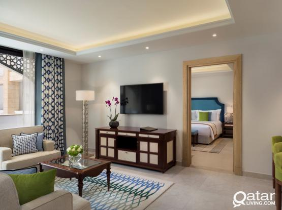 Spacious & Brand-New 2 Bedroom Hotel Apartment