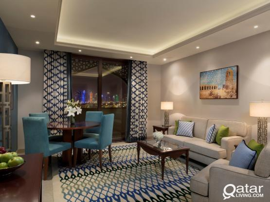 Spacious & Brand-New Deluxe 2 Bedroom Hotel Apartment