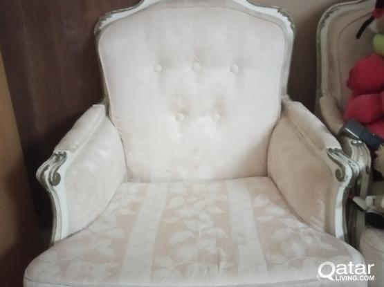 White Single sofa Chair