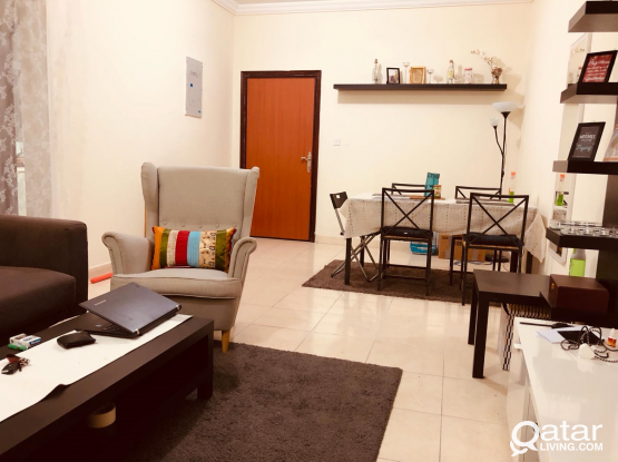 2 BHK Apartment have 1 bedroom available for sharing