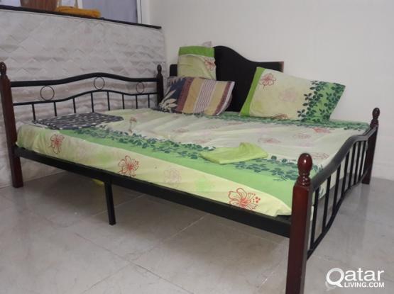 IMMEDIATE SALE - KING SIZE BED + MATTRESS & BABY STROLLER+CHAIR