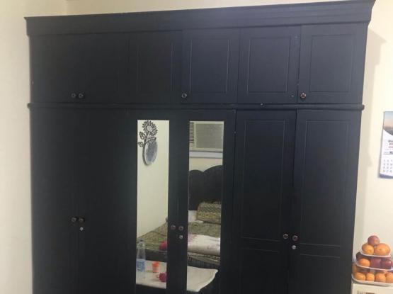 double bed and 6 door cupboard