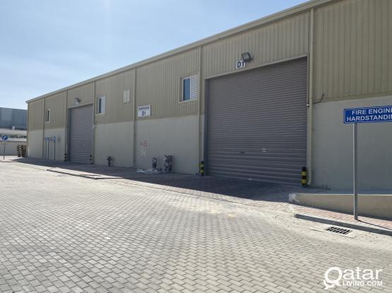 Professional Warehouse  100 & 150 Sqm QR 8,250