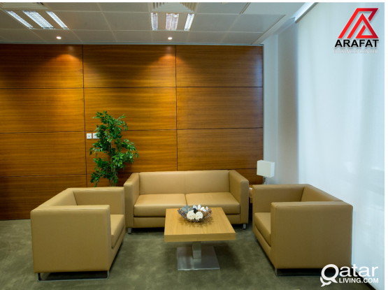 Fully furnished office  with license in Al sadd