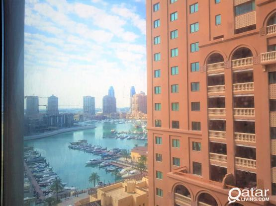 Sea View Furnished 1BHK+Balcony For Sale in The Pearl