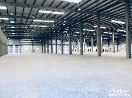 warehouses with 17000 m. for rent