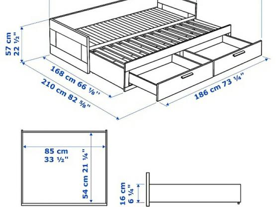 New IKEA Sofa Bed with Storage